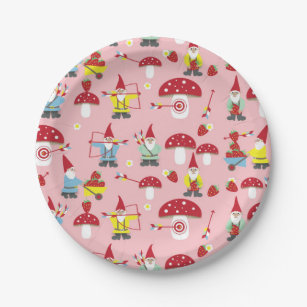 Gnomes Garden Party Paper Plates  sc 1 st  Zazzle & Strawberry Plates | Zazzle