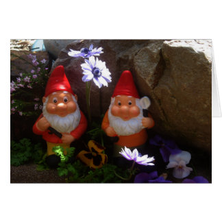 Gnomes in the Rockery Card
