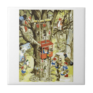 GNOMES IN THEIR TREE HOUSE TILE
