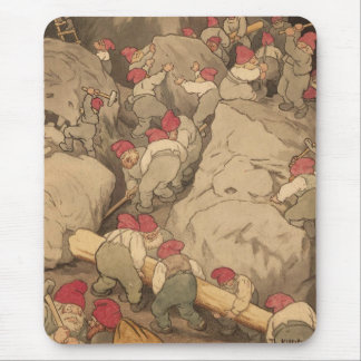 Gnomes Mining in a Cave Mouse Pads