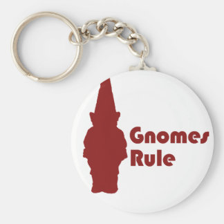 Gnomes Rule Key Chain