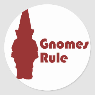 Gnomes Rule Stickers
