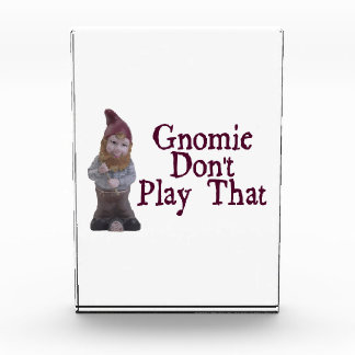 Gnomie Don't Play That Acrylic Award