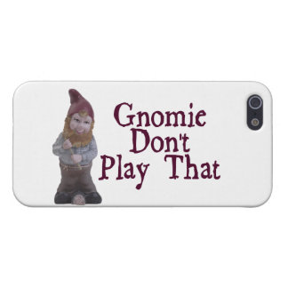 Gnomie no juega eso iPhone 5 protectores