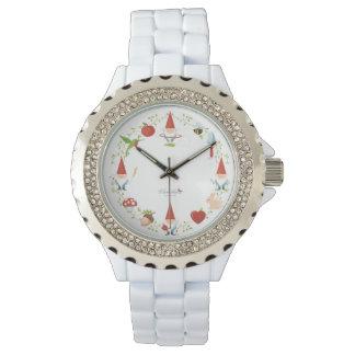 Gnomo-cuerpo: Reloj, esmalte Relojes De Pulsera