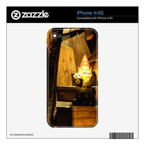 Gnomo de la cabina calcomanía para iPhone 4