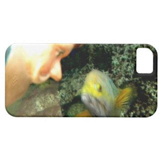 Gnomo de la cara de los pescados funda para iPhone SE/5/5s