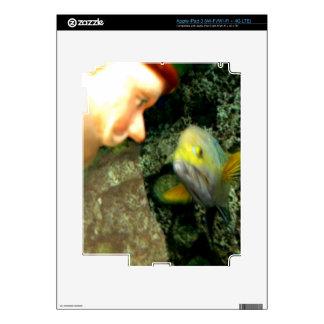 Gnomo de la cara de los pescados pegatina skin para iPad 3