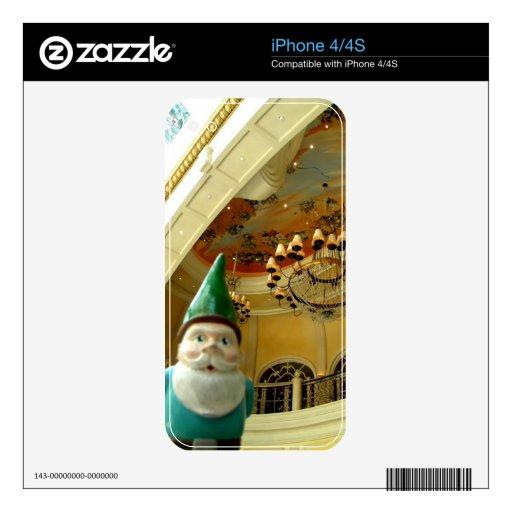 Gnomo de la lámpara calcomanías para el iPhone 4