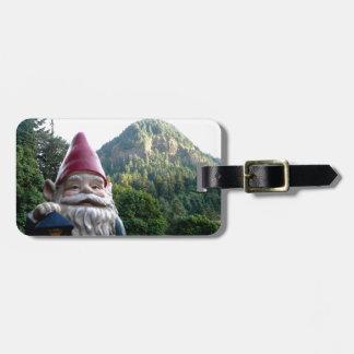 Gnomo de la montaña etiqueta para equipaje