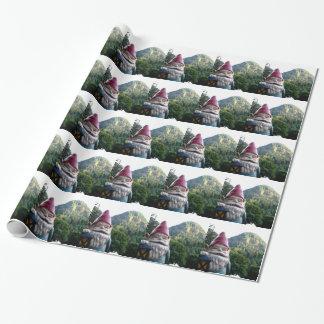 Gnomo de la montaña papel de regalo