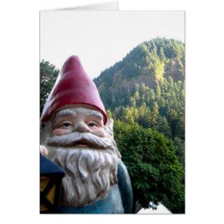Gnomo de la montaña tarjeta de felicitación