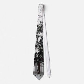 Gnomo de la nieve corbata