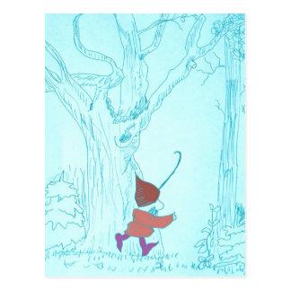Gnomo de la postal en bosque