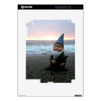 Gnomo de la puesta del sol iPad 2 calcomanías