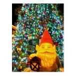 Gnomo de las Felices Navidad Tarjeta Postal