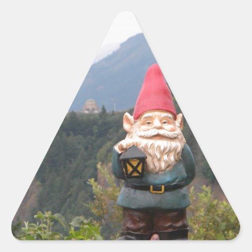 Gnomo de Vista Pegatina Triangular