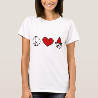 Gnomo del amor de la paz playera