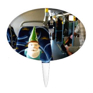 Gnomo del autobús figura de tarta