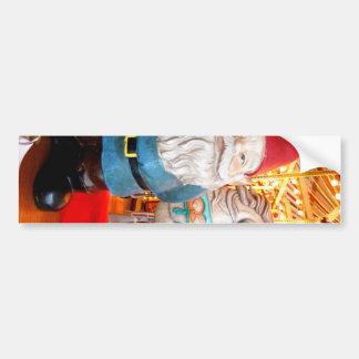 Gnomo del carrusel etiqueta de parachoque