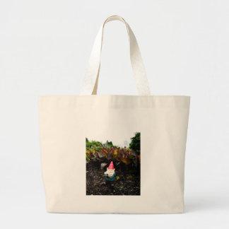 Gnomo del jardín del capitolio bolsa de tela grande
