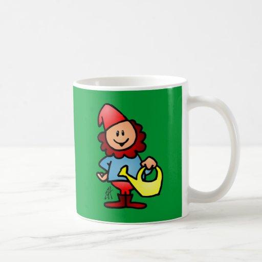 Gnomo del jardín taza de café