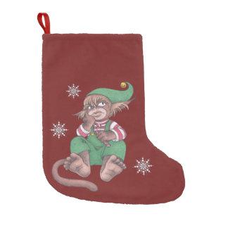 Gnomo del mono del navidad calcetín de navidad pequeño