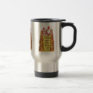 Gnomo del rey y de la reina taza de viaje de acero inoxidable