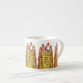 Gnomo del rey y de la reina taza espresso