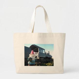 Gnomo del tren bolsa de mano