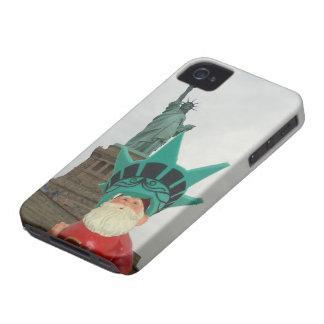 ¡Gnomo en New York City! Case-Mate iPhone 4 Fundas
