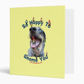 Gnomo feliz del perro usted