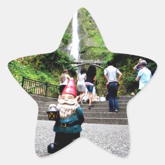 Gnomo II de Multnomah Pegatina Forma De Estrella