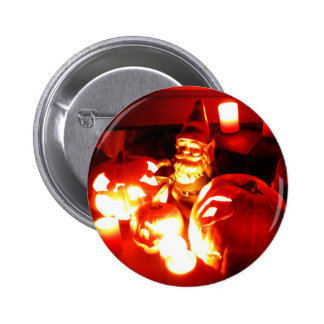Gnomo II del remiendo de la calabaza Pin Redondo De 2 Pulgadas