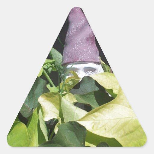 Gnomo ocultado pegatina triangular