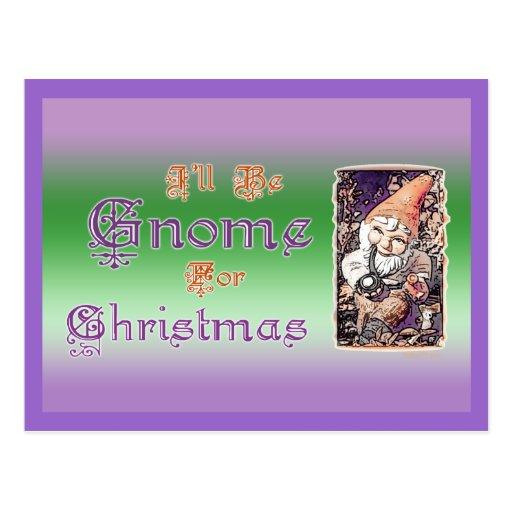 Gnomo para el crd de Navidad Postales