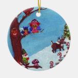 Gnomo para el ornamento de los días de fiesta ornamentos de navidad