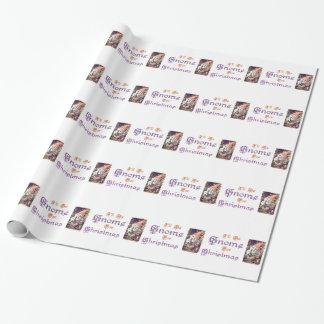 Gnomo para el papel de embalaje del navidad papel de regalo