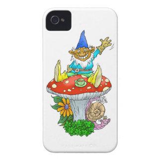 Gnomo que agita en un caso iphone4 carcasa para iPhone 4 de Case-Mate
