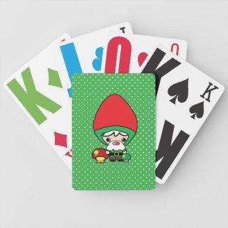 gnomo tonto lindo y setas del jardín del kawaii baraja cartas de poker