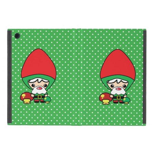 gnomo tonto lindo y setas del jardín del kawaii iPad mini cobertura