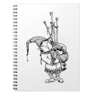 Gnomo y sus gaitas note book