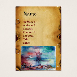 GNOMON  AND LADY OF THE LAKE Brown parchment Business Card