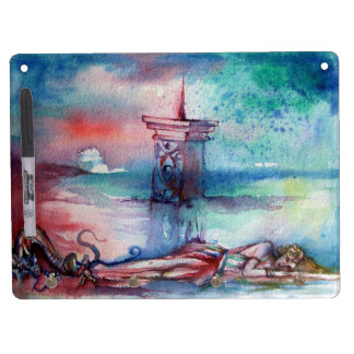 GNOMON AND LADY OF THE LAKE DRY ERASE BOARD WITH KEYCHAIN HOLDER