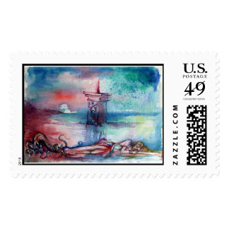 GNOMON AND LADY OF THE LAKE POSTAGE STAMP