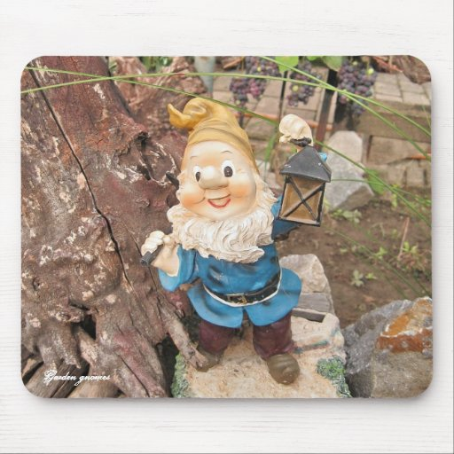 Gnomos del jardín tapetes de raton
