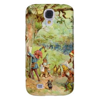 Gnomos, duendes y hadas en el bosque mágico