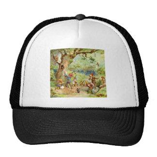 Gnomos, duendes y hadas en el bosque mágico gorro de camionero