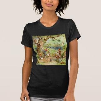 Gnomos, duendes y hadas en el bosque mágico tshirt