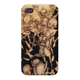 Gnomos I de Arturo Rackham iPhone 4 Fundas